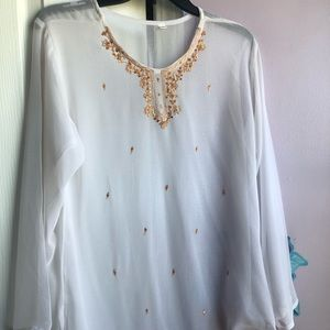 Jeweled indian top